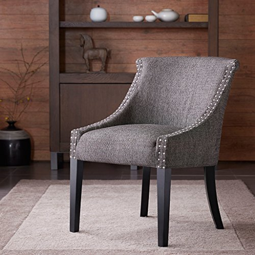 Madison Park Caitlyn Rounded Roll Back Chair - Grey - 24.375Wx28.5Dx31.875H
