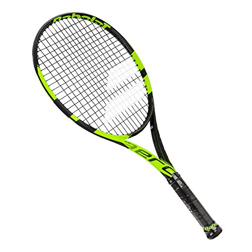 Babolat Pure Aero Junior 26 Inch Black/Yellow Tennis Racquet (4″ Grip), Strung with Black Tennis Racket String Review
