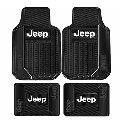 COMMART Jeep Mopar ELITE FRONT & REAR RUBBER FLOOR MATS FOR TRUCKS SUVS Ships from USA