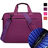 Lacdo 13.3-14 Inch Shockproof Shoulder Strap Bag / Notebook Ultrabook Laptop Sleeve Case Cover Briefcase Carrying Bag for Apple MacBook Pro 13.3-inch MacBook Air ASUS Toshiba Dell HP Acer - Purple