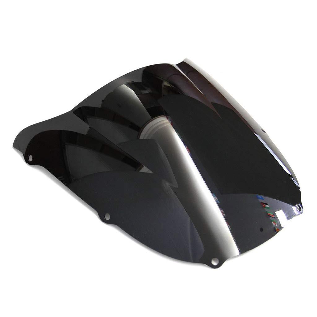 Motocicleta Wave parabrisas Shield viento protector de parabrisas para Kawasaki Ninja ZX6R 1998-1999 Negro)