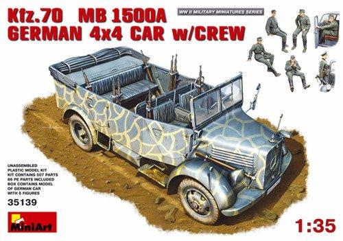 Miniart 1 35 - Kfz.70 (MB 1500A) German 4x4 Car w  Crew (MIN35139)