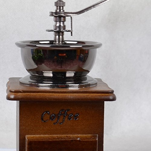 ZeHui Vintage Style Manual Coffee Bean Grinder Wooden Retro Burr Mill Grinding Machine