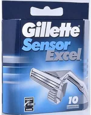 Cuchillas de afeitar y cortadora eléctricas, accesorios de afeitadora y cortadora eléctrica, paquete de 10 unidades de aspas de sensor Gillette Excel 050-080-0002 (GILLETTE): Amazon.es: Electrónica