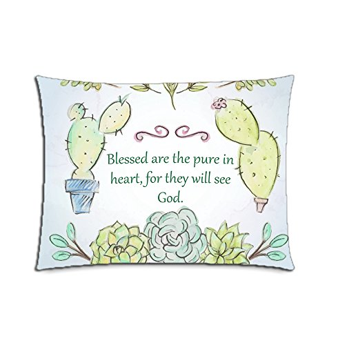 Custom The Holy Bible Cotton Polyester Pillowcase Pillow Cover With Zipper Standard Size 20x26 (Twin Sides) by CustomizedHome