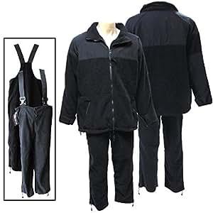 Black Fleece Jacket and Pants (X-Large Regular)