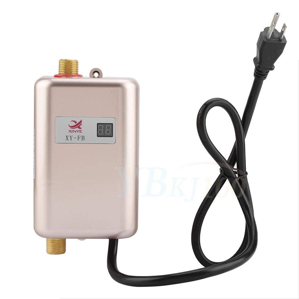 FTVOGUE 220V 3400W Mini el/éctrico Sin Tanque Calentador instant/áneo de Agua Caliente Ba/ño Cocina Lavado 03