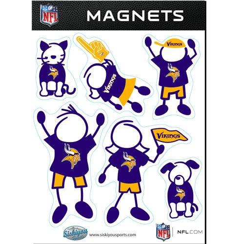 NFL Minnesota Vikings Family Magnet Set