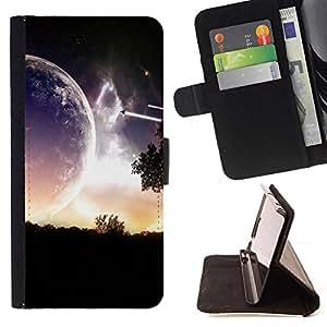 Jordan Colourful Shop - Sci Fi Romantic Planet For Sony Xperia Z1 L39 - < Leather Case Absorci????n cubierta de la caja de alto impacto > -