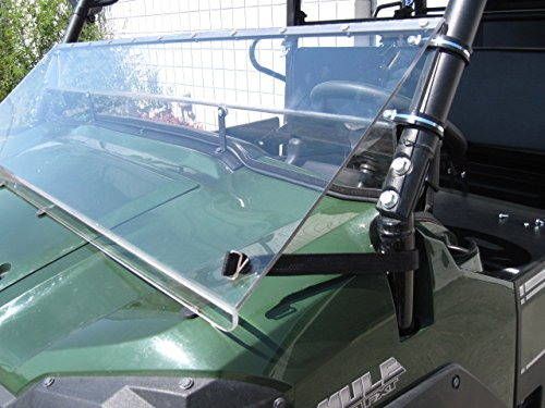 Kawasaki Mule Pro Series 2015 and Newer FULL-TILT WINDSHIELD. We need to know what kind of roof you have Hard or Soft? Check email/junk file for message after order is placed by UTV Windshields and Accessories (Image #5)