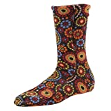 Acorn Versafit Sock Slipper, Chocolate Dots, Medium Standard US Width US