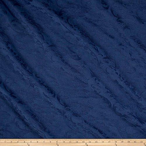 Ralph Lauren Home LCF66892F Les Baux Damask Brocade Denim Fabric by The Yard