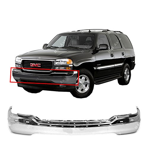 (MBI AUTO - Chrome, Steel Front Bumper Face Bar Fascia for 1999-2002 GMC Sierra 99-02 & 2000-2006 GMC Yukon 00-06, GM1002835)
