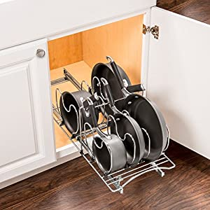 Lynk Professional Roll Out Cookware Kitchen Organizer