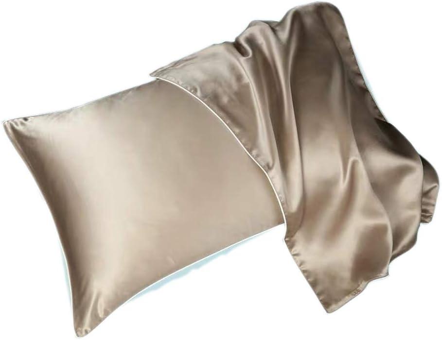 N/A Ly - Funda de almohada de seda pura de 48 x 78 cm, 100 ...