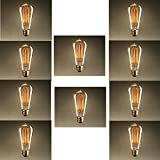 Upgradelights Better Efficiency 25 Watt Vintage Edison Style Squirrel Cage Light Bulb Marconi (Set of 10)