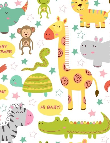 Blank Notebook: Baby Jungle Animals Notebook 100 pages (Composition Book Journal) (8.5