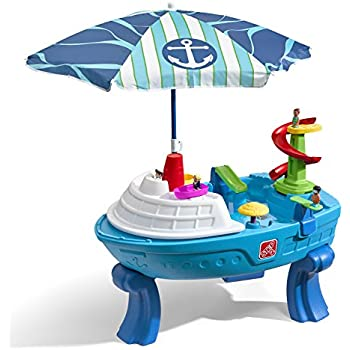 step2 fiesta cruise sand water table with umbrella play toys games. Black Bedroom Furniture Sets. Home Design Ideas
