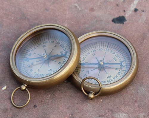 Collectibles Buy Nautical Vintage Antique Finish Compass Shiny Brass Finish Compass