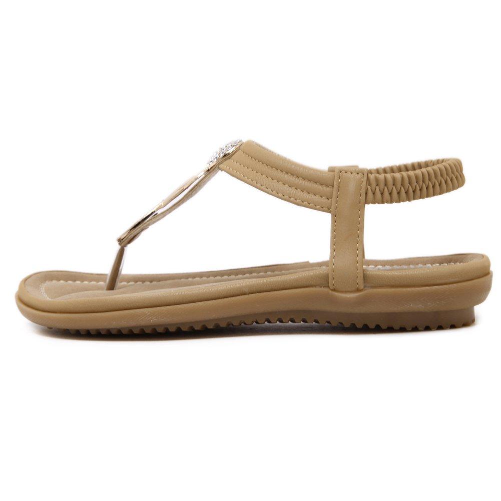 SANMIO Women Summer Flat Sandals Shoes,Bohemian T Strap Prime Thong Shoes Flip Flop Shoes by SANMIO (Image #4)