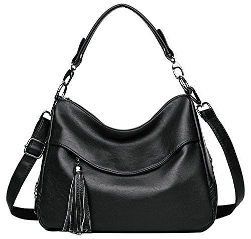 Black Leather Handbags Ladies Body Designer Bag Hobo Bag Tote Purse Womens Cross Handbag Shoulder A6O5q8w8dx