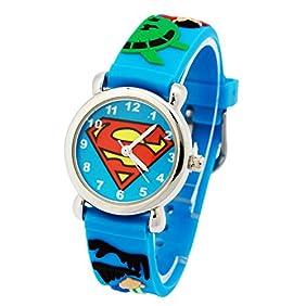 ELEOPTION Waterproof 3D Cute Cartoon Digital Silicone Wristwatches Time Teacher Gift for Little Girls Boy Kids Children