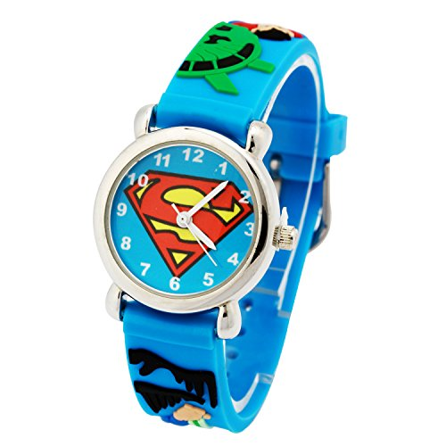 ELEOPTION-Waterproof-3D-Cute-Cartoon-Digital-Silicone-Wristwatches-Time-Teacher-Gift-for-Little-Girls-Boy-Kids-Children