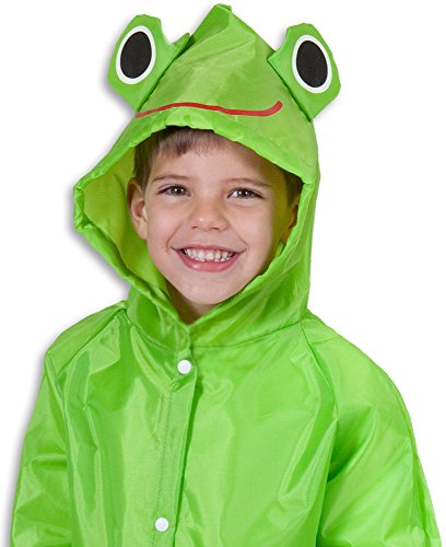(Cloudnine Children's Froggy Raincoat, for ages 5-12 One size fits)