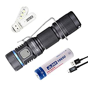 JETBeam E40R 1150 Lumens Luminus SST40 LED USB Rechargeable Waterproof 18650 Flashlight,5 modes flashlight for outdoor,everyday-carry or outdoor application ,with SKYBEN USB Light and 18650 Battery