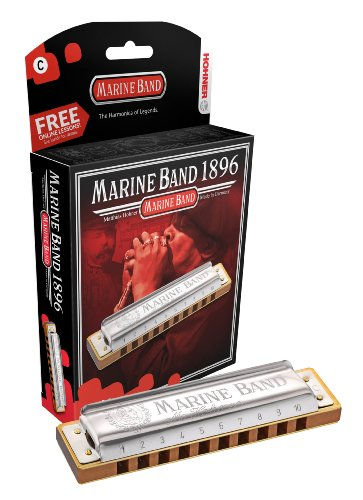 (Hohner 1896BX-NMD Marine Band, Natural Minor D)