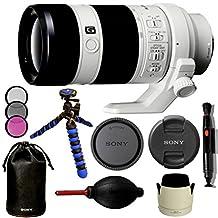 "Sony SEL70200G FE 70-200mm F4 G OSS E-mount Full Frame Interchangeable Lens - International Version (No Warranty). Bundle Includes: 12"" High Quality Flexible Gripster Tripod + 72mm filter kit + More"