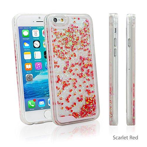 iPhone 6Plus Coque, BoxWave® [flutterlove Coque hybride rigide]/paillettes liquide Coque en TPU pour Apple iPhone 6Plus, 6S Plus–Rouge écarlate