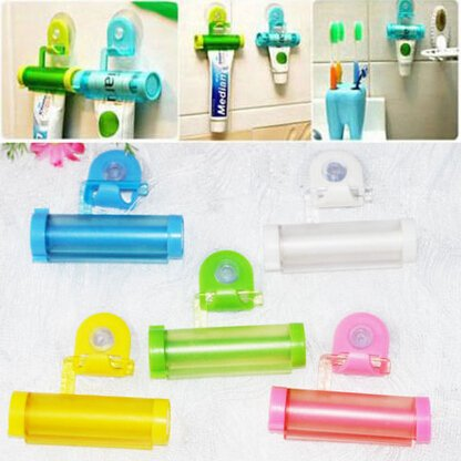 Squeezer Holder Bathroom Useful Toothpaste Tube Dispenser Easy Rolling Plastic