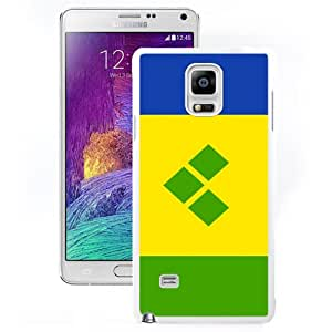 NEW Fashion Custom Designed Cover Case For Samsung Galaxy Note 4 N910A N910T N910P N910V N910R4 Saint Vincent And The Grenadines Flag White Phone Case