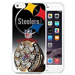 Easy Set,Customized Iphone 6 Plus Case Design with Pittsburgh Steelers 4 Iphone 6 Plus TPU 5.5 Inch White Cell Phone Case