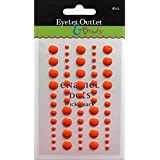 Eyelet Outlet Adhesive-Back Enamel Dot (60 Pack), Orange