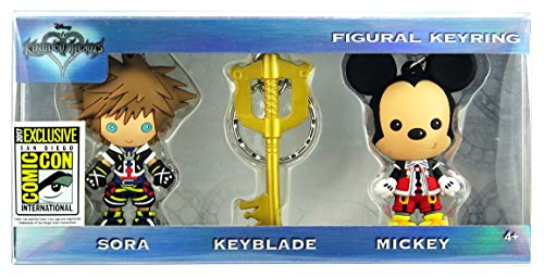 SDCC 2017 Comic Con Exclusive Monogram Kingdom Hearts 3 PC Keyring Keychain Set