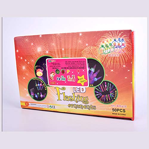 STOBOK STOBOK STOBOK STOBOK Bague Lumineux pour Enfant Jouet Bague pour Halloween Parti avec Boîtes 50 Pièces (Style Aléatoire) 0192a5