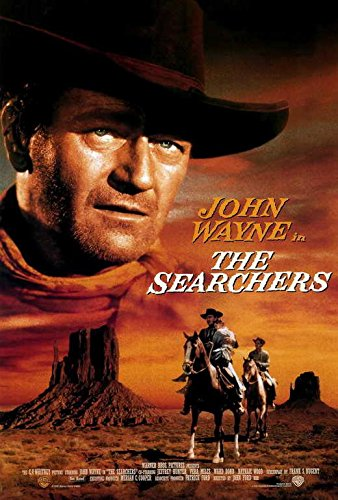 The Searchers Movie POSTER 27 x 40 John Wayne, Jeffrey Hunter, B, MADE IN THE U.S.A. ()