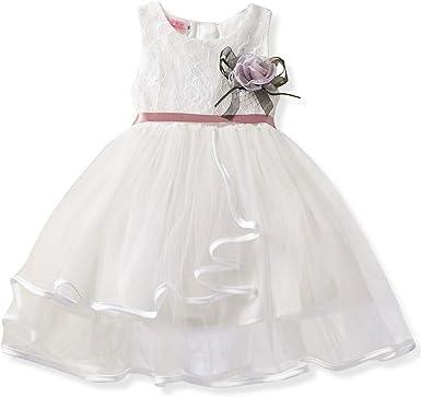 Aini Vestido De Tul De Encaje Falda De Princesa con Flores Bebé ...