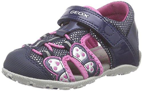 Geox B SANDAL ROXANNE B, Baby Mädchen Lauflernschuhe, Blau (NAVYC4002), 24 EU