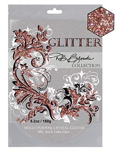 DB Brooks Collection (Rose Gold Holographic) Glitter Paint Additive Hybrid Crystals. 150g/5.2oz Latex Acrylic Emulsion for Walls Ceilings Wood Furniture -