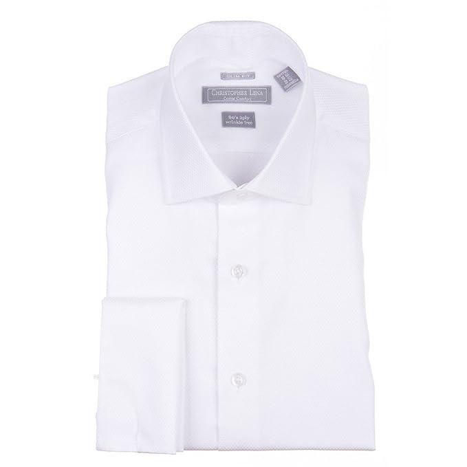 8020fa2ee Christopher Lena - Camisa de Esmoquin para Hombre (Ajustada)  Amazon ...