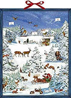 Coppenrath Winter Wonderland Advent Calendar with Pop Up Decorations 47 x 59 centimeter
