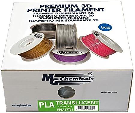 1.75 MG Chemicals Brown PLA 3D Printer Filament 1 kg Spool