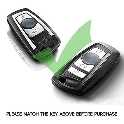 Atonix Gold TPU Chrome Gloss Finishing Smart Keyless Entry F10 Remote Key Fob Case for BMW