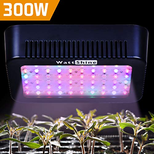 $39.99 WattShine LED Grow Lights – 300W Growing Lighting, Full Spectrum Grow Light Plant Light Grow Lamp UV&IR Plant Lamp for Greenhouse and Indoor Plant Grow LED Panel for Vegetables (5W LEDs 60Pcs) 2019