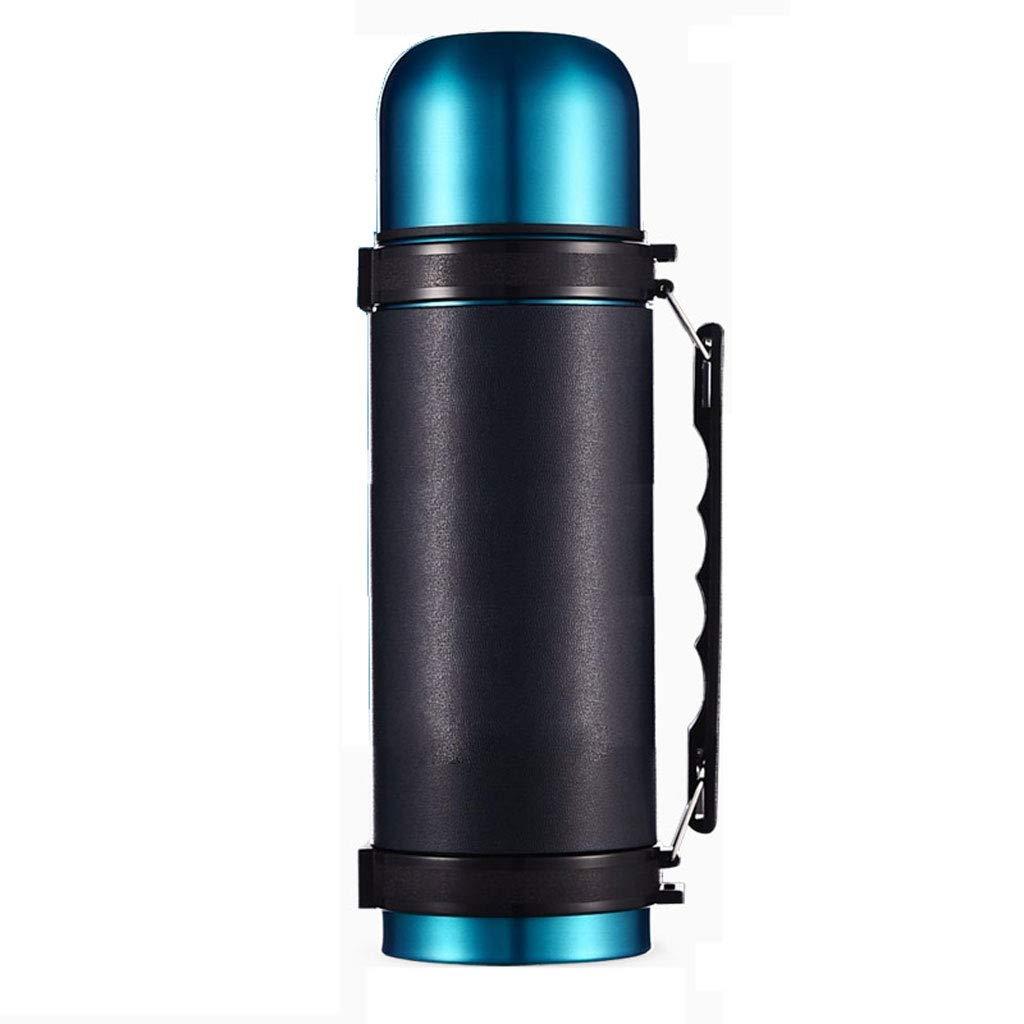 WLHW Trinkflaschen Thermos-Schale, Studenten-Tragbare große Kapazitäts-Edelstahl-Schalen-Kinder 1.2L