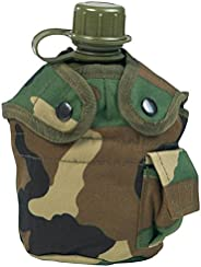 Mil-Tec US Style Canteen (Woodland, Canteen and Cup)