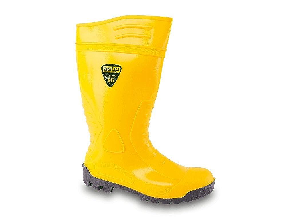 Industrie und Landwirtschaft in Gr/ö/ße 38-48 Gummistiefel gelb mit Stahlkappe und Stahlzwischensohle optimal f/ür BAU Enviro Footwear PVC Sicherheitsstiefel S5